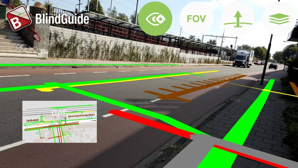 BlindGuide Augmented reality beta test