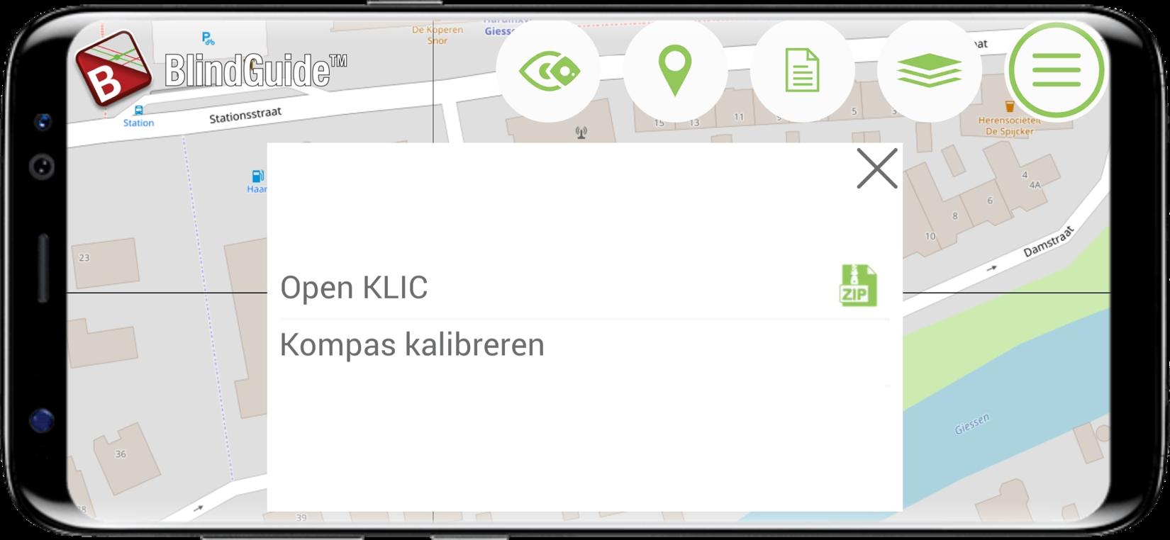 Open KLIC in BlindGuide KLIC app