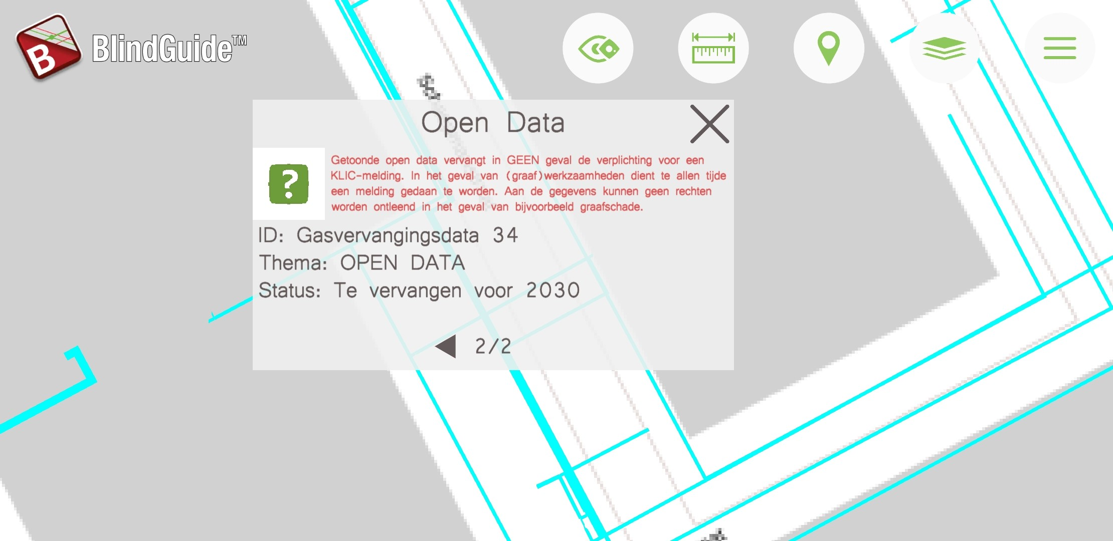 Inspire open data gasvervanging