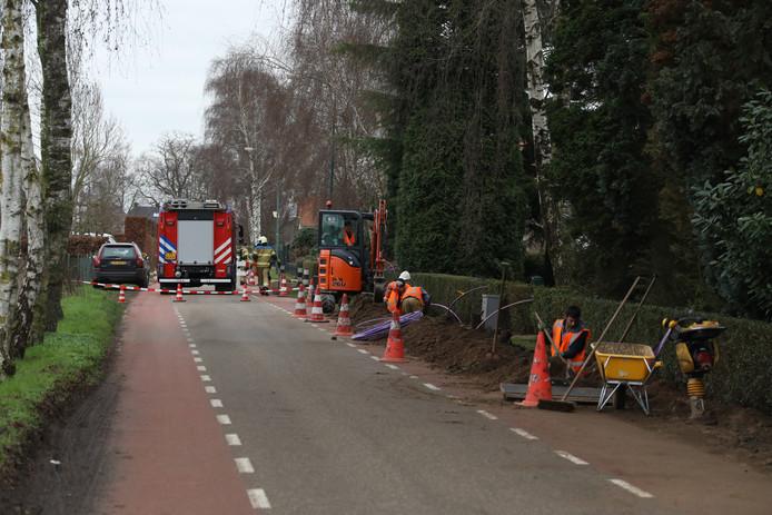 Het gaslek aan de Bredeweg. © Foto Mallo / Gabor Heeres