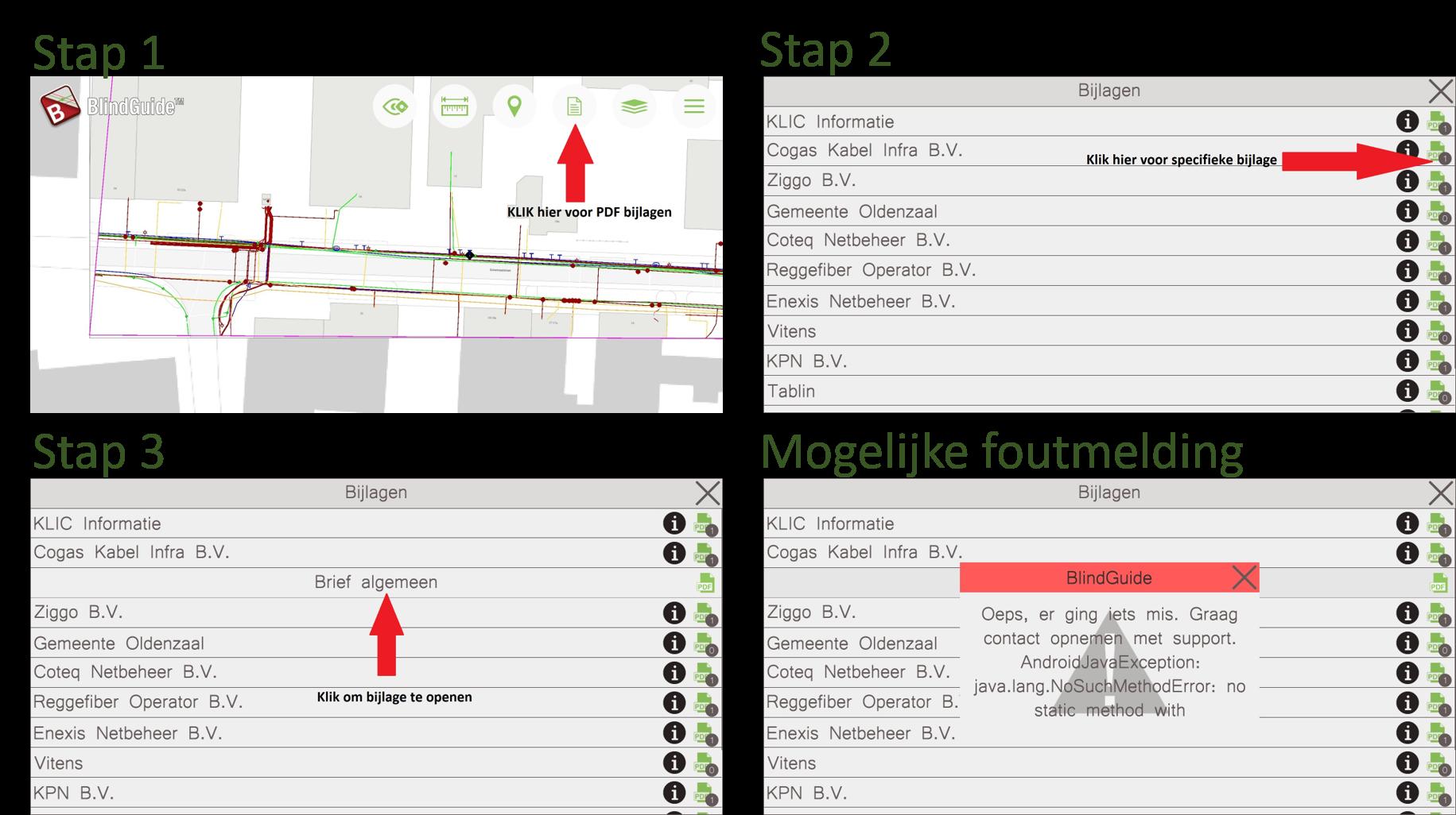Hoe open ikeen PDF in BlindGuide KLIC App
